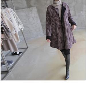ジャケット レディース 大人 ハーフ丈 2018 秋冬 冬 50代 40代 ファッション 女性 黒|alice-style|18