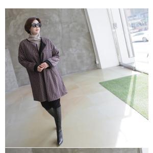 ジャケット レディース 大人 ハーフ丈 2018 秋冬 冬 50代 40代 ファッション 女性 黒|alice-style|19