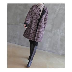 ジャケット レディース 大人 ハーフ丈 2018 秋冬 冬 50代 40代 ファッション 女性 黒|alice-style|03
