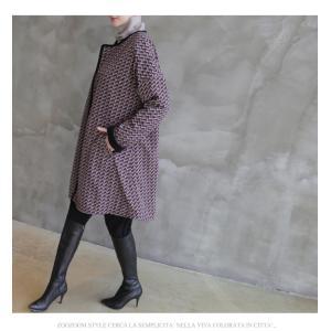 ジャケット レディース 大人 ハーフ丈 2018 秋冬 冬 50代 40代 ファッション 女性 黒|alice-style|07