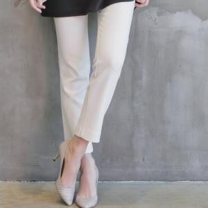 スーツパンツ レディース 40代 50代 60代 ファッション おしゃれ 女性 上品 黒 配色 起毛ポケット 無地 冬 ミセス|alice-style
