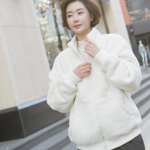 ジャケット レディース 大人 起毛 ハーフ丈 ジップアップ 秋冬 40代 50代 60代 ファッション 女性 上品 ミセス|alice-style