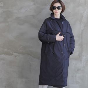 ダウンコート レディース 40代 50代 60代 ファッション おしゃれ 女性 上品  黒  紺 青 ダックダウン ロング丈 コート 秋 ミセス alice-style