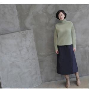 スカート レディース 40代 50代 60代 ファッション おしゃれ 女性 上品  黒  紺 青 ロング丈 ロングスカート 秋 ミセス|alice-style|13