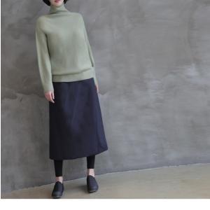 スカート レディース 40代 50代 60代 ファッション おしゃれ 女性 上品  黒  紺 青 ロング丈 ロングスカート 秋 ミセス|alice-style|14