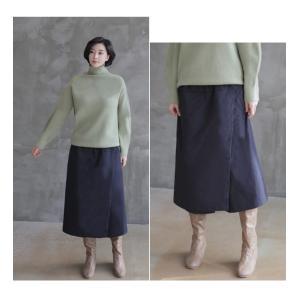 スカート レディース 40代 50代 60代 ファッション おしゃれ 女性 上品  黒  紺 青 ロング丈 ロングスカート 秋 ミセス|alice-style|15