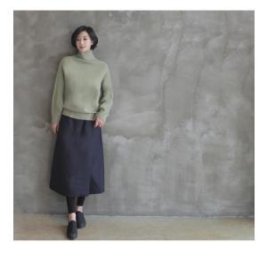 スカート レディース 40代 50代 60代 ファッション おしゃれ 女性 上品  黒  紺 青 ロング丈 ロングスカート 秋 ミセス|alice-style|16