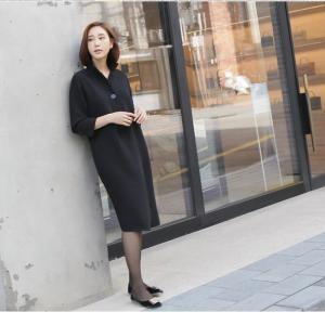 ワンピース レディース 大人 40代 50代 60代 ファッション 女性 上品 紺 青膝丈 長袖 きれいめ 秋 冬 ミセス 大きいサイズ alice-style 20