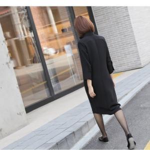 ワンピース レディース 大人 40代 50代 60代 ファッション 女性 上品 紺 青膝丈 長袖 きれいめ 秋 冬 ミセス 大きいサイズ alice-style 21