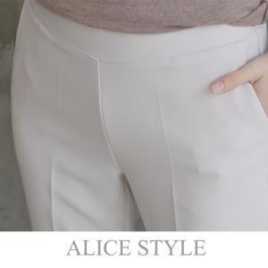 後部バンディングスーツパンツ レディース 40代 50代 60代 ファッション おしゃれ 女性 上品 黒 ベージュ 無地 冬 ミセス|alice-style