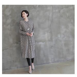 ワンピース レディース 40代 50代 60代 ファッション 女性 上品  黒 柄 長袖 ロング丈 ロングワンピース 春 ミセス きれいめ 大きいサイズ alice-style 15