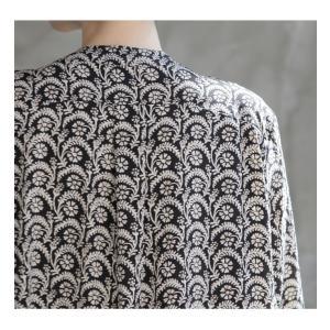 ワンピース レディース 40代 50代 60代 ファッション 女性 上品  黒 柄 長袖 ロング丈 ロングワンピース 春 ミセス きれいめ 大きいサイズ alice-style 17