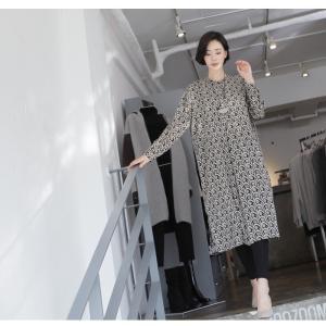 ワンピース レディース 40代 50代 60代 ファッション 女性 上品  黒 柄 長袖 ロング丈 ロングワンピース 春 ミセス きれいめ 大きいサイズ alice-style 18