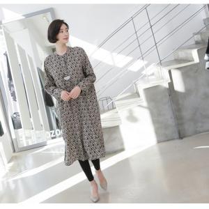 ワンピース レディース 40代 50代 60代 ファッション 女性 上品  黒 柄 長袖 ロング丈 ロングワンピース 春 ミセス きれいめ 大きいサイズ alice-style 19