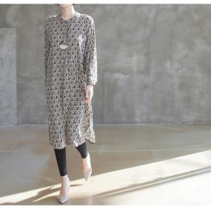 ワンピース レディース 40代 50代 60代 ファッション 女性 上品  黒 柄 長袖 ロング丈 ロングワンピース 春 ミセス きれいめ 大きいサイズ alice-style 21