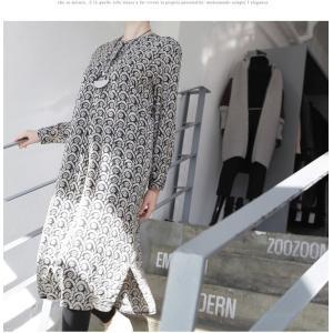 ワンピース レディース 40代 50代 60代 ファッション 女性 上品  黒 柄 長袖 ロング丈 ロングワンピース 春 ミセス きれいめ 大きいサイズ alice-style 05