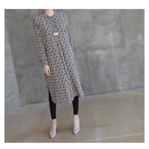 ワンピース レディース 40代 50代 60代 ファッション 女性 上品  黒 柄 長袖 ロング丈 ロングワンピース 春 ミセス きれいめ 大きいサイズ alice-style 09