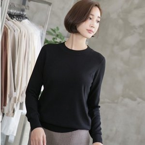 Tシャツ レディース 40代 50代 60代 ファッション おしゃれ 女性 上品  黒  赤  ベージュ  グレー 無地 長袖 トップス 秋 ミセス|alice-style