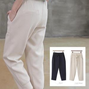 パンツ レディース 40代 50代 60代 ファッション おしゃれ 女性 上品  黒  ベージュ 前ポケットバギーパンツ 無地 冬 ミセス|alice-style