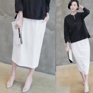 タイトスカート レディース 大人 40代 50代 60代 ファッション 女性 上品 黒無地 ロング丈 春 ミセス|alice-style