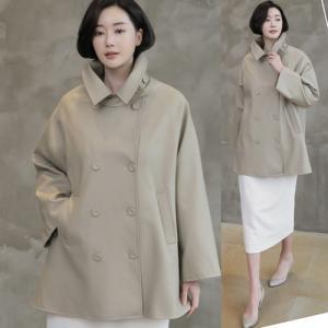 ジャケット レディース 大人 40代 50代 60代 ファッション 女性 上品 ベージュAライン フェイクレザー 合皮 ハーフ丈 春 ミセス|alice-style