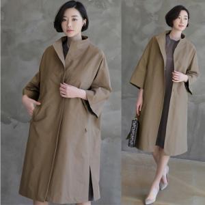 コート レディース 大人 40代 50代 60代 ファッション 女性 上品 黒 ベージュロング丈 スプリングコート ロングコート 体形カバー 春 ミセス|alice-style