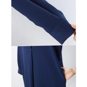 ワンピース レディース 40代 50代 60代 ファッション 女性 上品  黒 ベージュ 紺 青 シャツワンピース 無地 ロング丈 長袖 きれいめ 春夏 ミセス|alice-style|18