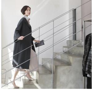 ワンピース レディース 40代 50代 60代 ファッション 女性 上品  黒 ベージュ 紺 青 シャツワンピース 無地 ロング丈 長袖 きれいめ 春夏 ミセス|alice-style|21