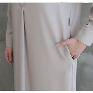 ワンピース レディース 40代 50代 60代 ファッション 女性 上品  黒 ベージュ 紺 青 シャツワンピース 無地 ロング丈 長袖 きれいめ 春夏 ミセス|alice-style|08