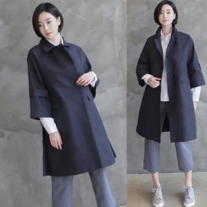 コート レディース 大人 40代 50代 60代 ファッション 女性 上品 ベージュ 紺 青ロング丈 スプリングコート ロングコート 春 ミセス|alice-style