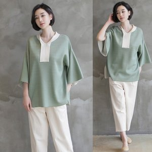 ニット ブラウス トップス レディース 40代 50代 60代 ファッション 女性 上品  グレー ゆったり きれいめ 体形カバー 春夏 ミセス|alice-style