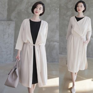 カーディガン レディース 大人 40代 50代 60代 ファッション 女性 上品 黒 ベージュロング丈 春 ミセス|alice-style
