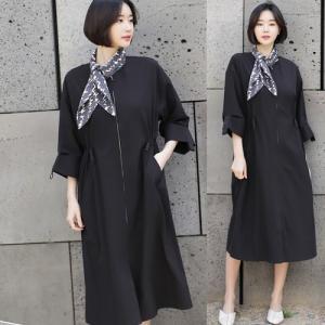 ジャケット レディース 大人 40代 50代 60代 ファッション 女性 上品 黒ロング丈 ロングジャケット 無地 ジップアップ 春 ミセス|alice-style
