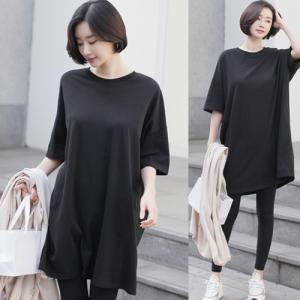 トップス レディース 大人 40代 50代 60代 ファッション 女性 上品 黒 白 グレーチュニック Tシャツ 半袖 無地 春 ミセス|alice-style