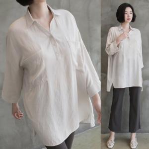 シャツ ブラウス レディース 40代 50代 60代 ファッション 女性 上品  白 ベージュ 紺 青無地 長袖 ゆったり 体形カバー 春 ミセス|alice-style