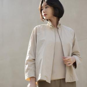 ジャケット レディース 大人 40代 50代 60代 ファッション 女性 上品 黒 ベージュハーフ丈 ジップアップ 春 ミセス|alice-style