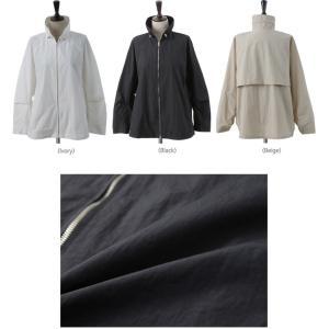 ジャケット レディース 大人 40代 50代 60代 ファッション 女性 上品 黒 ベージュハーフ丈 ジップアップ 春 ミセス alice-style 02