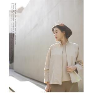 ジャケット レディース 大人 40代 50代 60代 ファッション 女性 上品 黒 ベージュハーフ丈 ジップアップ 春 ミセス alice-style 12