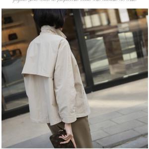ジャケット レディース 大人 40代 50代 60代 ファッション 女性 上品 黒 ベージュハーフ丈 ジップアップ 春 ミセス alice-style 14