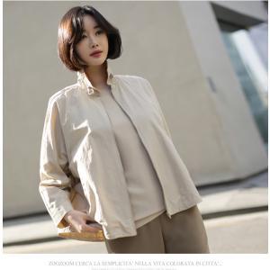 ジャケット レディース 大人 40代 50代 60代 ファッション 女性 上品 黒 ベージュハーフ丈 ジップアップ 春 ミセス alice-style 18