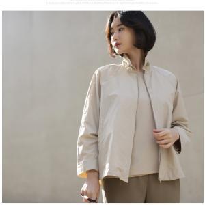 ジャケット レディース 大人 40代 50代 60代 ファッション 女性 上品 黒 ベージュハーフ丈 ジップアップ 春 ミセス alice-style 19