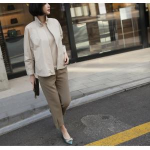 ジャケット レディース 大人 40代 50代 60代 ファッション 女性 上品 黒 ベージュハーフ丈 ジップアップ 春 ミセス alice-style 04