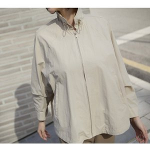 ジャケット レディース 大人 40代 50代 60代 ファッション 女性 上品 黒 ベージュハーフ丈 ジップアップ 春 ミセス alice-style 05