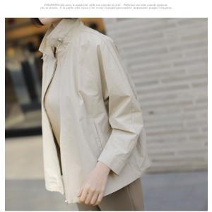 ジャケット レディース 大人 40代 50代 60代 ファッション 女性 上品 黒 ベージュハーフ丈 ジップアップ 春 ミセス alice-style 08