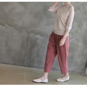 ニット トップス レディース 40代 50代 60代 ファッション 女性 上品  黒 ベージュ 紺 青ニット 無地 春 ミセス|alice-style|11