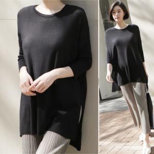 トップス レディース 40代 50代 60代 ファッション 女性 上品  黒 グレー 紺 青Tシャツ 長袖 無地 きれいめ 春 ミセス|alice-style