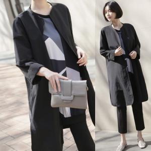 ノーカラー ジャケット レディース 大人 40代 50代 60代 ファッション 女性 上品 黒 ベージュロング丈 ロングジャケット きれいめ 春 ミセス|alice-style