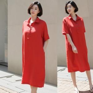 ワンピース レディース 40代 50代 60代 ファッション 女性 上品  赤 ベージュ 紺 青膝丈 半袖 無地 きれいめ 春 ミセス alice-style