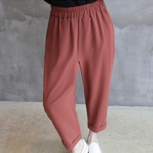 パンツ レディース 40代 50代 60代 ファッション おしゃれ 女性 上品  赤 スラックス きれいめ ウエストゴム 秋 ミセス|alice-style