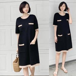ワンピース レディース 大人 40代 50代 60代 ファッション 女性 上品 黒膝丈 半袖 きれいめ 春 ミセス|alice-style